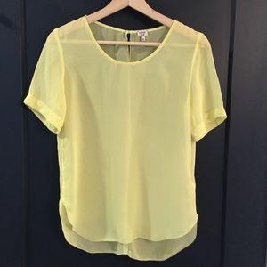 Aritzia Wilfred silk Tshirt xs